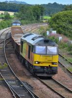 Colas 60085 leads an Elgin - Millerhill empty ballast working past Inverkeithing East Junction with Colas 56094 on the rear. Sunday 13th August 2017<br><br>[Bill Roberton&nbsp;13/08/2017]