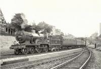 Class 2P 4-4-0 no 40621 with empty stock at Paisley West on 2 September 1957. <br><br>[G H Robin collection by courtesy of the Mitchell Library, Glasgow&nbsp;02/09/1957]