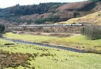 Running parallel with the Elvan Water on the climb to Beattock summit near Greskine on 27 March 2017. The Pendolino is the Virgin Trains 0643 London Euston – Birmingham New Street – Edinburgh Waverley.<br><br>[John Furnevel&nbsp;27/03/2017]