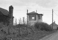 Seton Level Crossing signalbox in 1978. This image provides a contrast to David Panton's photo Seton in 2017 [See image 60520]<br> <br><br>[Bill Roberton&nbsp;//1978]