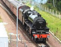 Black 5 44871 runs south through Kings Gate points on 20 August 2017 with a Linlithgow - Tweedbank steam special.<br><br>[John Furnevel&nbsp;20/08/2017]