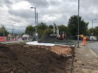 Setting up the contractor's compound at Bailleston where work to replace the deck of the overbridge has now started.<br><br>[Colin McDonald&nbsp;05/09/2017]