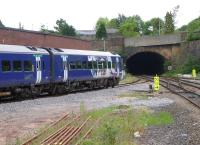 A Blackpool North to York service leaves Blackburn station on 16th June 2017, heading towards the tunnel. The very useful <I>Railway Codes</I> website advises that this structure is 437 yards long.  <br><br>[Mark Bartlett&nbsp;16/06/2017]