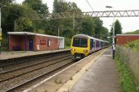 A Northern Class 323 arrives at Styal with a train from Manchester Piccadilly to Alderley Edge via Manchester Airport on the morning of 03 September 2017.<br><br>[John McIntyre&nbsp;03/09/2017]