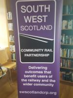The <a target=external href=http://swscotlandcrp.org/>South West Scotland Community Rail Partnership</a> was launched today at Kilmarnock.<br><br> <br><br> From the website: <i>'The South West Scotland Community Rail Partnership is a voluntary, not-for-profit organisation which aims to engage people in their local railway across Ayrshire and Dumfries & Galloway - from Stranraer in the far south-west, to Ayr and Kilmarnock in the north and south to Dumfries and east to Gretna Green on the Anglo-Scottish Border.'</i><br> <br> <br><br>[John Yellowlees&nbsp;11/09/2017]
