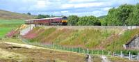 Royal Scotsman with 66843 for Aviemore incorporating a stop at Carrbidge before an overnight at Boat of Garten. The location is near Moy on the Highland Main Line.<br><br>[Ian Millar&nbsp;30/08/2017]