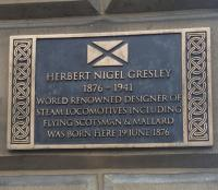 Gresley plaque; this new plaque at 32 Dublin Street Edinburgh was unveiled in June.<br><br>[John Yellowlees&nbsp;21/08/2017]