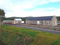 Progress at Grantown-on-Spey East on 14 September 2017, including new windows and doors now installed on the station building.<br><br>[Andy Furnevel&nbsp;14/09/2017]