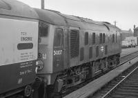 24007 coupled to a Motorail vehicle at Stirling.<br><br>[Bill Roberton&nbsp;//1974]