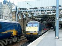 GNER services passing at the east end of Waverley in February 2004. <br><br>[John Furnevel&nbsp;19/02/2004]