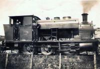 Barclay 0-6-0 Saddle tank shunting at Canderrigg Colliery Netherburn.<br> Photograph donated from ex family member for album.<br><br>[Gordon Steel&nbsp;//1930]