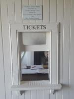 A photograph of the ticket office window at the restored Thrumster Station, which closed in 1944.<br><br>[John Yellowlees&nbsp;17/08/2017]