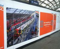 Hoardings at Liverpool Lime Street in September 2017 showing the planned two new platforms.<br><br>[Veronica Clibbery&nbsp;07/09/2017]