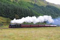 Black 5 No.45407 can't be faulted for effort as it charges up the gradient west of Glenfinnan with the afternoon* Jacobite * service for Mallaig.<br><br>[John Gray&nbsp;//2017]