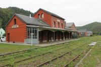 Hastiere station was on the line that ran along the Meuse Valley from Dinant in Belgium to Givey in France. The line and stations closed in 1988, although the tracks are still in place along the route. Hastiere station building is now a community centre, seen here on 7th September 2017.<br><br>[Mark Bartlett&nbsp;07/09/2017]