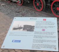 Locomotive Bifrost is preserved at Narvik Station [see image 60446]. This plaque gives the loco's history.<br><br>[John Yellowlees&nbsp;25/07/2017]