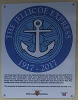 This new plaque was unveiled today at Helmsdale by Geordie Adams, who was a fireman on the Jellicoe Express during the Second World War.<br><br>[John Yellowlees&nbsp;30/09/2017]