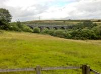 One of the few structures remaining from the Heads of Valleys railway is this viaduct, which is clearly visible from the Heads of Valleys road. There is a road nearby called Nine Arches, but I could only see seven. A tarmacked foot or cycle path crosses the viaduct.<br><br>[Ken Strachan&nbsp;19/08/2017]