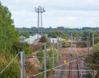 A real tangle or railways. On the right, just out of frame, is Byrehill Junction. The photograph is taken from Blacklands Junction looking east. The Kilwinning to Byrehill line runs on an embankment from left to right in the distance. On the left was the Blacklands Junction to Doura line, at a lower level, which passed under the Kilwinning to Byrehill line. Stobbs Junction was where the Bogend Pit and Misk Colliery No 1 branch met the Doura branch having passed under the Blacklands to Byrehill line. Eglinton Iron Works was just beyond the Kilwinning to Byrehill embankment. And all that is before mentioning the Lanarkshire and Ayrshire behind me ...<br><br>[Ewan Crawford&nbsp;14/09/2017]