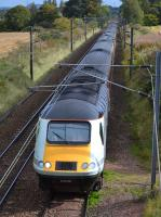 The 07.55 from Inverness to London KX, led by power car 43238 'National Railway Museum 40 Years 1975-2015', diverted via the WCML due to track renewals on the ECML.<br><br>[Bill Roberton&nbsp;30/09/2017]
