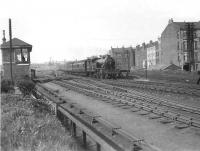 V1 67614 passing Partick Junction on 24 May 1957 with a Clydebank East to Bridgeton train.
