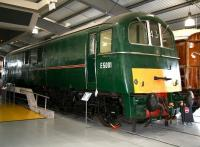 Preserved DC electric locomotive E5001 at Shildon in 2007. One of 24 examples built at Doncaster between 1958 and 1960 for the Kent Coast electrification, it was subsequently renumbered 71001 under the TOPS system. [See image 25721]<br><br>[John Furnevel&nbsp;04/11/2007]