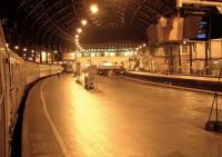 Evening platform scene at Brighton looking back towards the station concourse in the summer of 2002.<br><br>[Ian Dinmore&nbsp;24/08/2002]