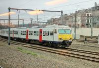Grab shot of SNCB Class AM80 EMU No.312 approaching Namur station on 9th September 2017. The AM80s were introduced in 1980 and, together with their sister units of AM82 and AM83, total 140 trains in service.  <br><br>[Mark Bartlett&nbsp;09/09/2017]