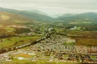 Banavie (centre) with the Caledonian Canal, Neptune's Staircase and Loch Lochy in the distance taken from a Helicopter on a flight from Fort William and around Ben Nevis, was really amazing!!!!<br><br>[Gordon Steel&nbsp;17/08/1987]