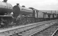 Locomotives stabled for the weekend in the yard at Heaton MPD standing in the sunshine on Sunday 18 June 1961. Those present on this particular occasion include home based class J39 0-6-0 no 64806. <br><br>[K A Gray&nbsp;18/06/1961]
