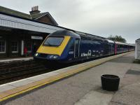 Crew training run for a Scotrail HST at Stonehaven heading to Aberdeen on 6th October 2017. It was a shame I couldn't get on and I'm looking forward to proper trains On this occasion I had to wait for the Class 170.<br> <br> <br><br>[Alan Cormack&nbsp;06/10/2017]