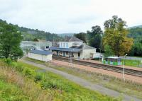 Fumay, an intermediate unstaffed station on the Charleville to Givet branch line, seen on 7th September 2017. The line used to continue beyond Givet across the border into Belgium along the Meuse Valley to Dinant. This SNCF line currently enjoys a service of fifteen trains a day.<br><br>[Mark Bartlett&nbsp;07/09/2017]