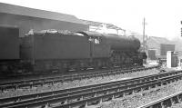 An unidentified Gresley V2 2-6-2 stabled in the shed yard at Gateshead in 1963.<br><br>[K A Gray&nbsp;//1963]