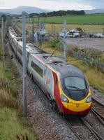 The 10.51 Edinburgh - Euston via Birmingham takes the Up line away from Carstairs South Junction on 3rd October 2017.<br> <br> <br><br>[Bill Roberton&nbsp;03/10/2017]