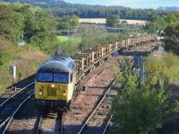 Colas 56094 passes Inverkeithing East Junction with an Aberdeen - Millerhill rail train on Sunday 8th October 2017.<br> <br> <br><br>[Bill Roberton&nbsp;08/10/2017]