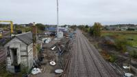 Elgin works - points and track back in and access to mainline now has a signal.  Elgin Centre box is B listed which is why it has not be demolished. The old GNSR station is also listed.<br> <br> <br><br>[Crinan Dunbar&nbsp;20/10/2017]