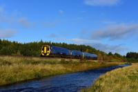 The 10:45 Inverness to Edinburgh train near Moy on 10th October 2017. 158711 is leading this four coach train.<br> <br> <br><br>[John Gray&nbsp;10/10/2017]