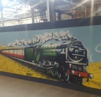 An attractive Waverley hoarding at future Platforms 5 and 6.<br><br>[John Yellowlees&nbsp;23/10/2017]