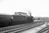 The summer Saturday 10.30am Kings Cross - Scarborough pulls away from Doncaster on 20 July 1963 behind A3 Pacific no 60037 <I>Hyperion</I>.<br><br>[K A Gray&nbsp;20/07/1963]