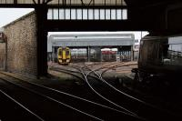 A view from Platform 4 at Perth of the carriage sidings in October 2012.<br><br>[John McIntyre&nbsp;13/10/2012]