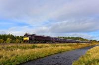 The Royal Scotsman going south at Moy on 10th October 2017. The train is heading for Boat of Garten on the Strathspey Railway, hauled by GBRf 66743.<br> <br><br>[John Gray&nbsp;10/10/2017]