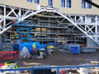 The new entrance to Dundee station takes shape on 25 October. This is part<br> of a larger development transforming this area.<br><br>[David Panton&nbsp;25/10/2017]
