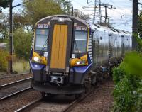 380102 approaches Kirknewton with the 13.52 from Edinburgh to Ayr on 9th October 2017.<br> <br> <br><br>[Bill Roberton&nbsp;09/10/2017]