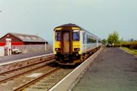 Sprinter 156480, on a Carlisle - Leeds service, seen at Langwathby on 24th May 1995. <br><br>[Gordon Steel&nbsp;24/05/1995]
