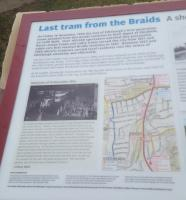 Information board at Braid's Tram Shelter.<br><br>[John Yellowlees 02/01/2017]