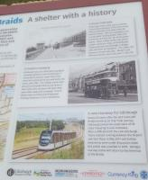 Information board at the restored Braid's Tram Shelter.<br> <br><br>[John Yellowlees 02/01/2017]