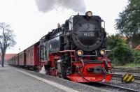 HSB 99 236 with its seven carriages for the 10:25 train from Wernigerode to Brocken on 17 September 2017.  One of the batch of 17 New Steam Engines built in the 1950s for use on the 1000 mm gauge system in the Harz Mountains, it has at times also been numbered 99 0236 9when converted to oil-burning in the 1970s) and 99 7236-5 (when restored to coal-burning in the 1980s).<br><br>[Norman Glen&nbsp;17/09/2017]