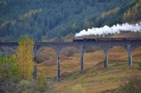 K1 62005 crossing Glenfinnan Viaduct with The Jacobite on 19 October.<br><br>[Bill Roberton&nbsp;19/10/2017]