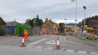 The Wards, closed to traffic. Elgin West box has gone. This was the state of the works on the 8th October 2017.<br><br>[Crinan Dunbar&nbsp;08/10/2017]