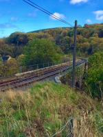 Fiddich Viaduct on the Keith and Dufftown railway. Just southeast of Dufftown Station. The station was being Spooked up for Halloween services.<br><br>[Caleb Abbott&nbsp;25/10/2017]